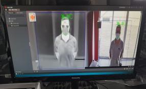 Sistema di videoanalisi per la misurazione della temperatura corporea alla Biblioteca Nazionale Centrale