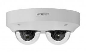 Hanwha Techwin presenta la telecamera multidirezionale a due canali 5 MP PNM-9000VD