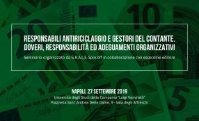 Seminario G.R.A.L.E. sulla normativa antiriciclaggio a Napoli il 27 settembre
