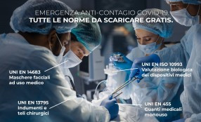 Emergenza COVID-19: a disposizione gratis le norme tecniche per combattere il contagio