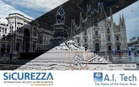 A.I. Tech parteciperà a Sicurezza 2019 con i suoi prodotti 100% Made in Italy