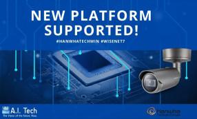 Le applicazioni di analisi video di A.I. Tech, sono ora compatibili con le nuove telecamere Wisenet 7 di Hanwha Techwin