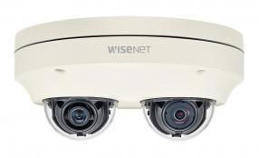 Hanwha Techwin presenta la telecamera multidirezionale con doppio obiettivo serie Wisenet P