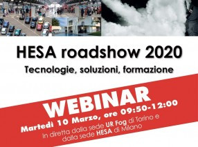 HESA roadshow 2020 - Webinar in diretta dalla sede UR Fog di Torino e dalla sede HESA di Milano