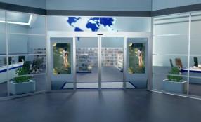 FAAC ON AIR, la prima porta automatica che rivoluziona il digital signage